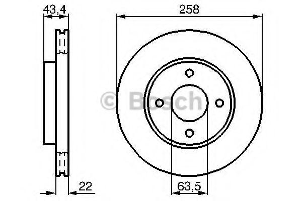 Тормозной диск (пр-во Bosch)                                                                         BOSCH 0986478892