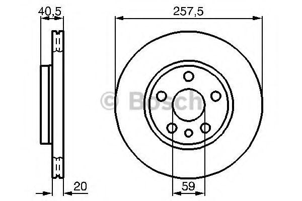 Тормозной диск (пр-во Bosch)                                                                         BOSCH 0986478896