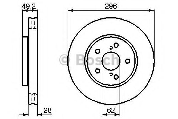 Тормозной диск (пр-во Bosch)                                                                         BOSCH 0986478968