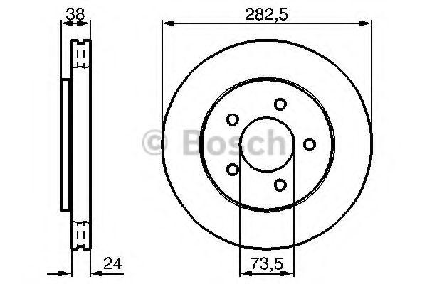 Тормозной диск  арт. 0986478983