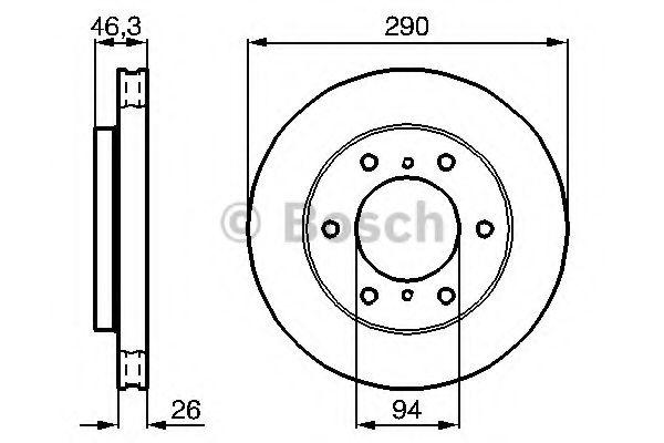 Тормозной диск (пр-во Bosch)                                                                         BOSCH 0986478990