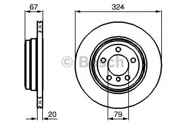 Тормозной диск Bosch  арт. 0986479004