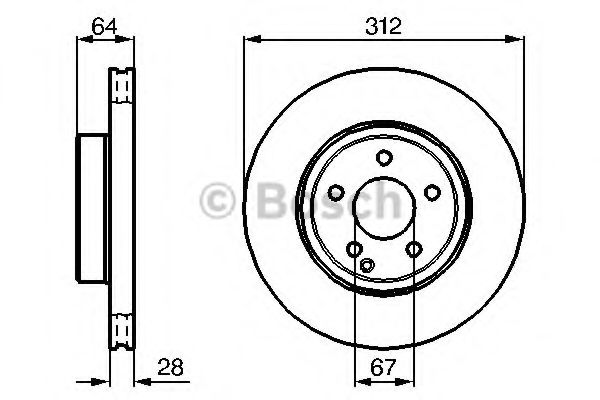 BOSCH DB Тормозной диск перед (вентил.) (312*28)  W211 02- BOSCH 0986479040