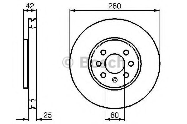 Тормозной диск (пр-во Bosch)                                                                         BOSCH 0986479077