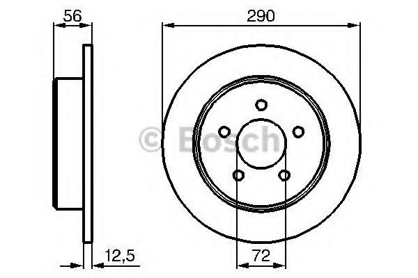 BOSCH  Тормозной диск задн.  VOYAGER III BOSCH 0986479102