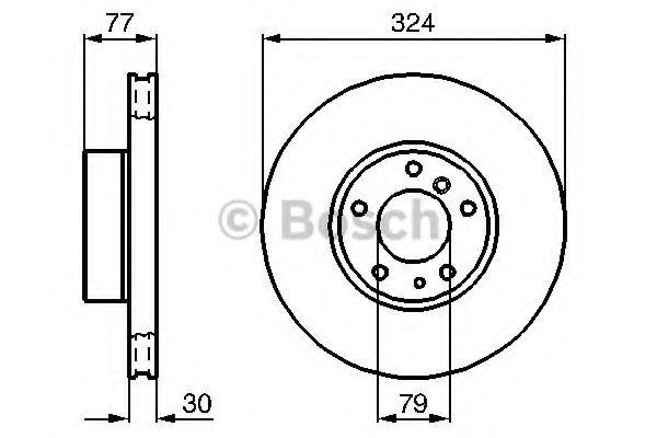 Тормозной диск  арт. 0986479116