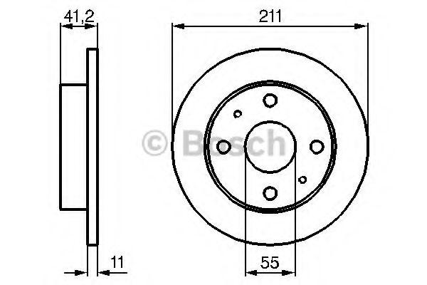 Тормозной диск  арт. 0986479119
