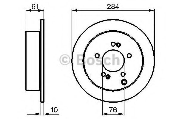 Тормозной диск Bosch BOSCH 0986479126