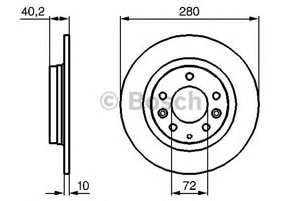 Тормозной диск Bosch BOSCH 0986479131