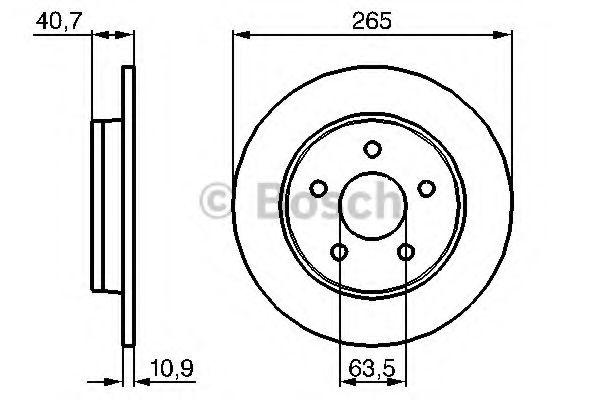 Тормозной диск Bosch BOSCH 0986479169