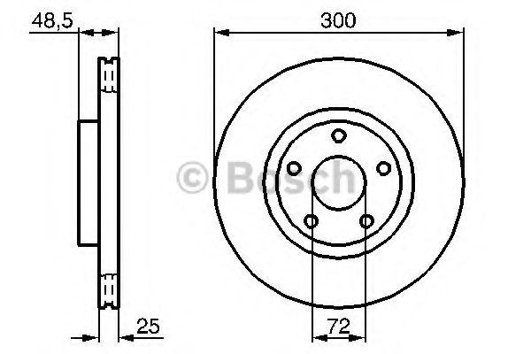 Тормозной диск Bosch BOSCH 0986479183