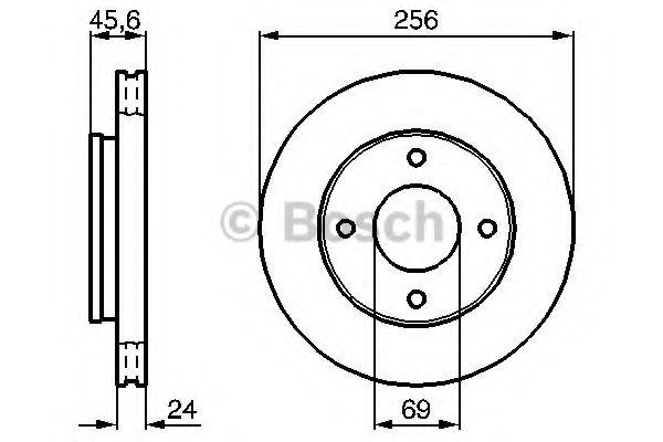 Тормозной диск Bosch BOSCH 0986479187