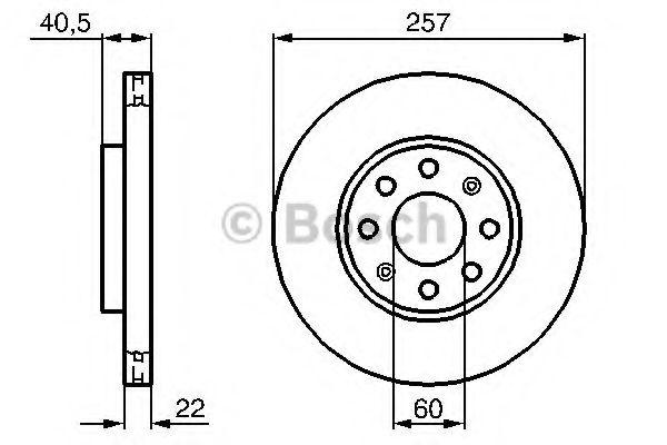 Тормозной диск BOSCH арт. 0986479B89