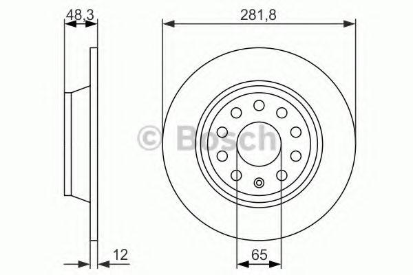 Тормозной диск (пр-во Bosch)                                                                         BOSCH 0986479247