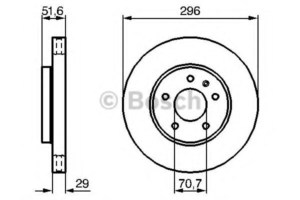 Тормозной диск  арт. 0986479267