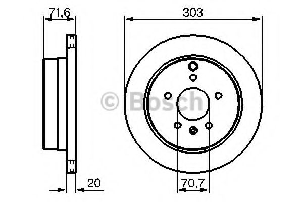 Тормозной диск (пр-во Bosch)                                                                         BOSCH 0986479268