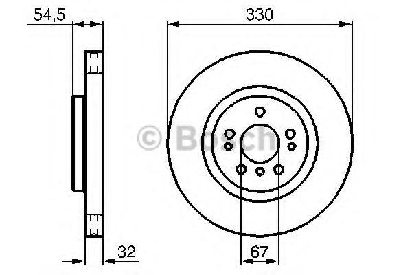 Тормозной диск Bosch BOSCH 0986479269