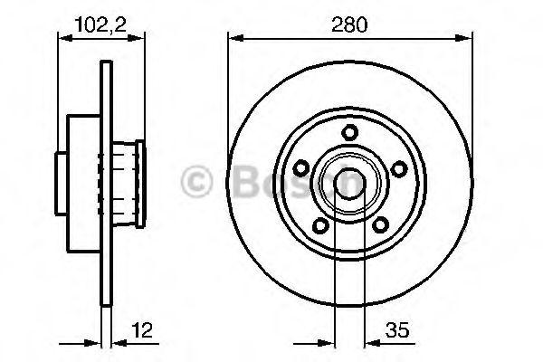 Тормозной диск (пр-во Bosch)                                                                         BOSCH 0986479271