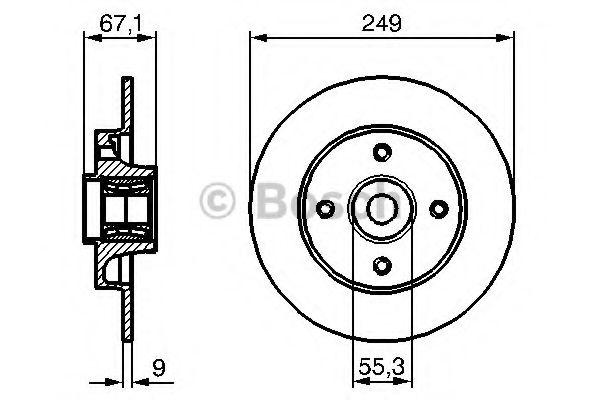 Тормозной диск (пр-во Bosch)                                                                         BOSCH 0986479279