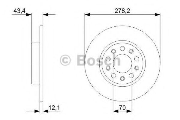 Тормозной диск  арт. 0986479292