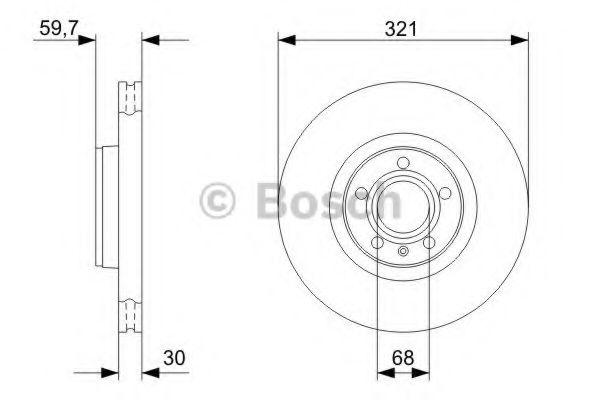 Тормозной диск Bosch BOSCH 0986479300