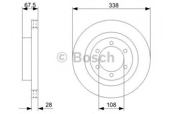 Тормозной диск Bosch BOSCH 0986479304