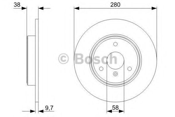 Тормозной диск Bosch BOSCH 0986479305