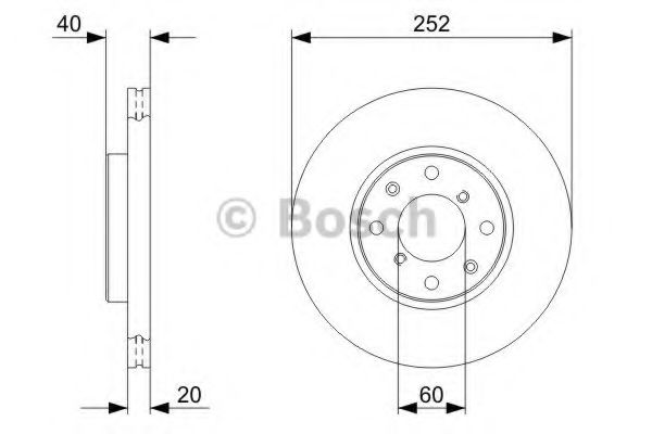 Тормозной диск Bosch BOSCH 0986479308