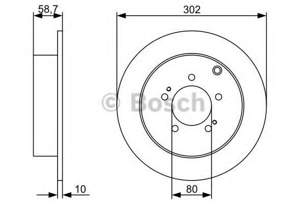 Тормозной диск Bosch BOSCH 0986479318