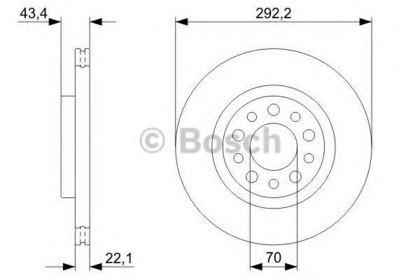 Тормозной диск  арт. 0986479326