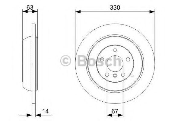 BOSCH DB Тормозной диск задний W164, W251 BOSCH 0986479330