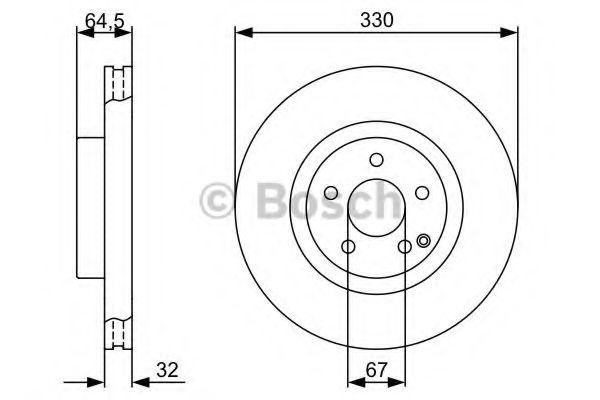 Тормозной диск Bosch BOSCH 0986479332