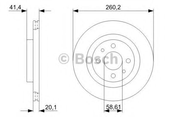 BOSCH (LV) Диск тормозной передний (вентилир. 260мм) ВАЗ 2110-..., R-14 BOSCH 0986479346