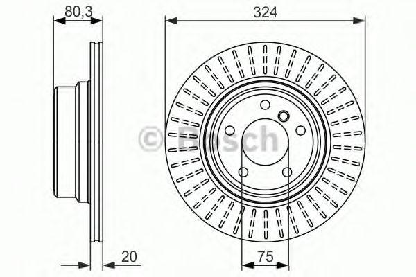 BOSCH BMW Диск тормозной задний E53 BOSCH 0986479350