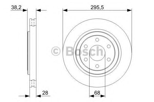 Тормозной диск Bosch BOSCH 0986479356