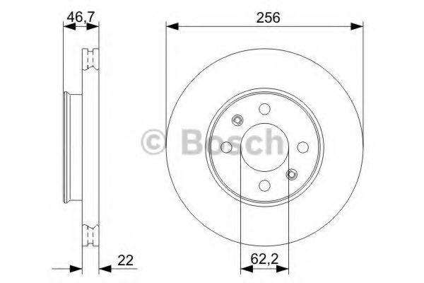 Тормозной диск Bosch  арт. 0986479367
