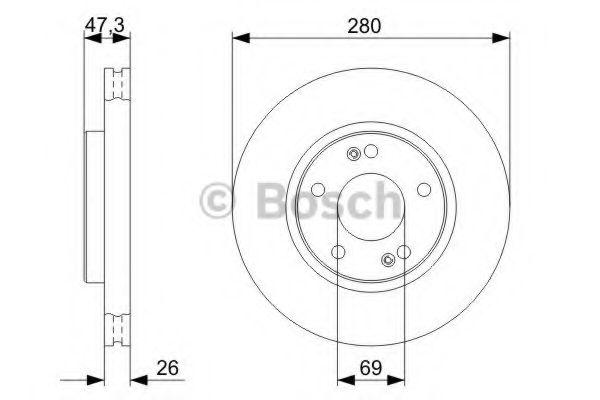 Тормозной диск Bosch BOSCH 0986479368