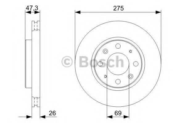 Тормозной диск (пр-во Bosch)                                                                         BOSCH 0986479369