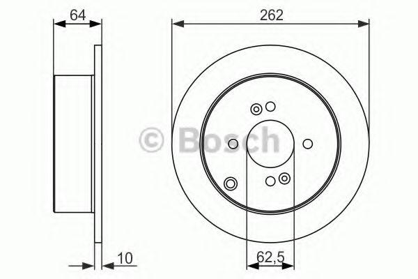Тормозной диск Bosch BOSCH 0986479371