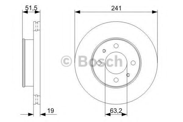 Тормозной диск  арт. 0986479377