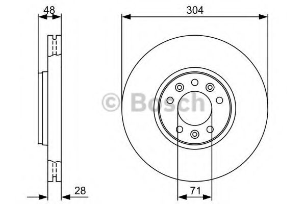 Тормозной диск Bosch BOSCH 0986479380