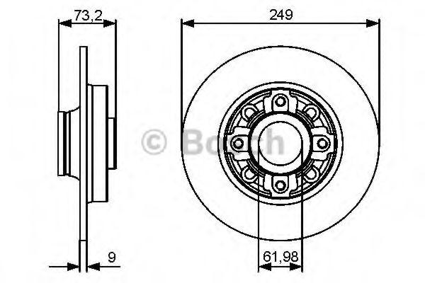 Тормозной диск Bosch BOSCH 0986479400