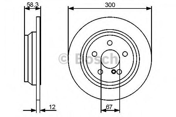 BOSCH  DB Тормозной диск зад. S221 BOSCH 0986479414