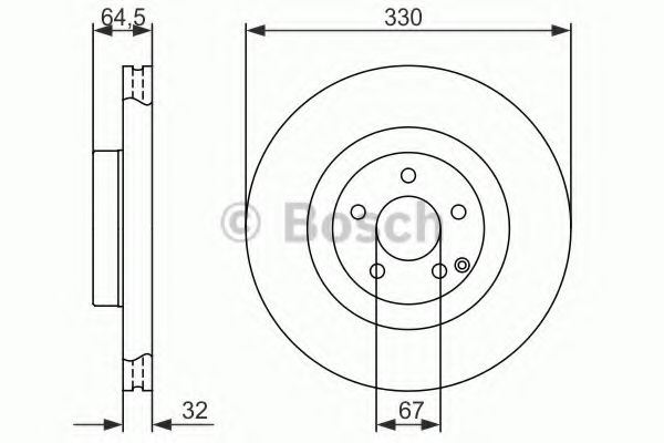 BOSCH DB Диск тормозной передний W211(AMG) 1,8-3,5 02-. BOSCH 0986479415
