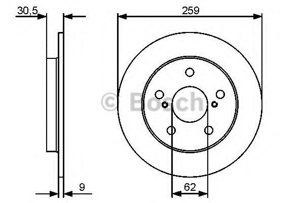 Тормозной диск (пр-во Bosch)                                                                         BOSCH 0986479418