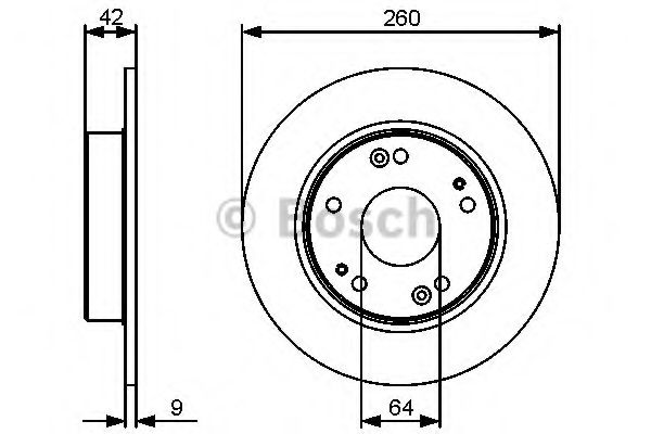 Тормозной диск (пр-во Bosch)                                                                         BOSCH 0986479451