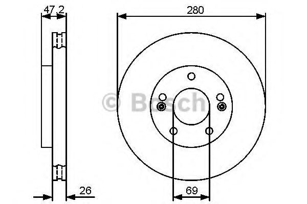 Тормозной диск Bosch BOSCH 0986479460