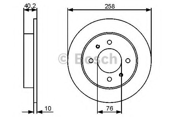 Тормозной диск  арт. 0986479484