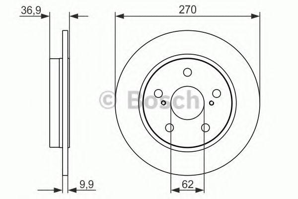 Тормозной диск (пр-во Bosch)                                                                         BOSCH 0986479519