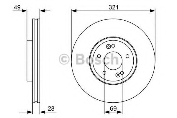 Тормозной диск Bosch BOSCH 0986479536